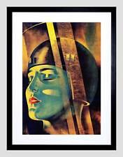 Personaje de película de película Maria metrópolis Lang Alemania impresión arte enmarcado B12X9901
