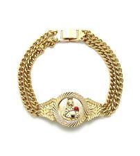 "Mens Catholic Saint Barbara Piece 8.25"" Double Link Chain Fashion Bracelet XB372"