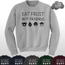 Eat Fruit Not Friends Sweater Vegan Vegetarian Animal Rights Lover Sweatshirt