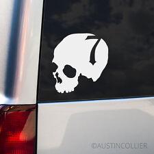 SKULL w/ NUMBER 7 Vinyl Decal Car Truck Laptop Sticker - Moto X FMX Evil Lucky