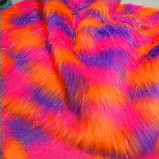 Multicolor Jacquard Faux Fur Plush Clothing Plush Fabric Home Room Sofa Decor