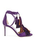 Jimmy Choo 85mm 36.5 37 37.5 38 39.5 Heel Mindy Boho Purple Suede Strappy Sandal