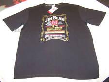 Jim Beam Label Mens Black Cotton T Shirt Size M New