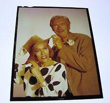 The Beverly Hillbillies vintage 4x5 TV transparency GLORIA SWANSON Buddy Ebsen