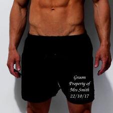 PERSONALISED MENs BOXERS SHORT UNDERWEAR BAGGY STYLE GIFT GROOM HUSBAND LEG