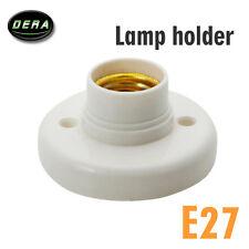 E27 Screw Base Round Plastic Light Bulb Lamp Socket Holder Adapter 12V 110V 220V