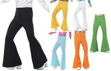 Anni'60'70 Scampanato Pantaloni Uomo DISCOTECA TRENDY Costume Accessorio
