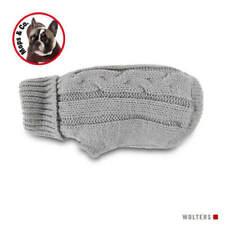Wolters Hunde Zopf-Strickpullover für Mops & co. silber, diverse Größen, NEU