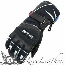 LINDSTRANDS AJAX BLACK WHITE WATERPROOF & THERMAL MOTORCYCLE GLOVES