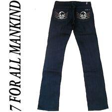 7 SEVEN FOR ALL MANKIND Skull Straight Leg Jeans 27/34