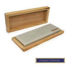 Genuine Arkansas Natural Knife Sharpening Stone dans boîte en bois