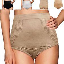 Donna vita alta breve Elastico Slim Shaper Knickers Underwear Mutandine
