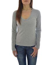 TIRDY T-shirt donna disegno ricamato collo a V in PROMOZIONE