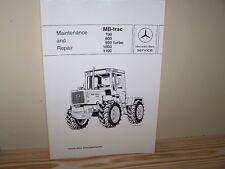 MB-trac 700 800 900 turbo 1000 1100 Maintenance and Repair Manual - NEW