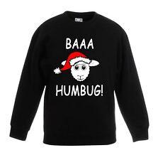 Baaa Humbug Sheep Santa Hat Christmas Funny Childrens Kids Sweatshirt Jumper