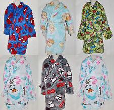 Boy Girl Frozen Olaf Spiderman Turtle winter fleece dressing gown Size 3 to 10
