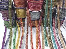1 Meter Metallic Edging Trim Ribbon Upholstery Sewing  Craft Lace Trim