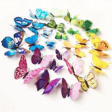 12 PEZZI 3D Farfalla Adesivi Murali ARTE Decalcomania Arredamento Casa Stanza Decorazioni Bambini G/S