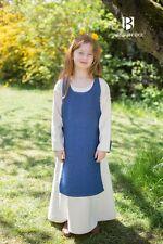 Moyen Âge Salopette Robe Enfant Ylva / Larp - Bleu Océan de Burgschneider