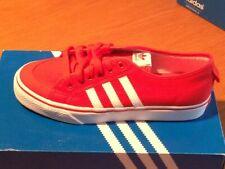 Adidas Nizza lo Zapatos de Lona de la Zapatilla de Deporte Hombre Rojo Retro