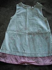 girls WHITE & PINK SUMMER DRESS sleeveless CASUAL flowers CUTE size 3T