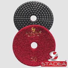 "10 Pcs 4"" Premium WET Diamond Polishing Pads : Grit 100"