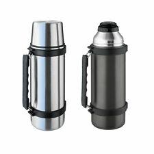ISOSTEEL Isolierflasche 1 L Isolierkanne – Flasche Thermo Kanne Griff 2 Farben