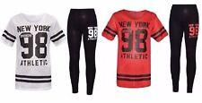 Girls New York 98 Net Tracksuit Baseball Top & Leggings Age 7 8 9 10 11 12 13