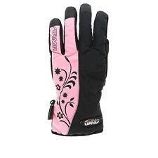 Ladies Armr  Textile Waterproof Thinsulate Motorcycle Glove LWP-18 LWP225 Pink T