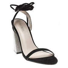 NEU Damen öffentliche Wunsch schwarz Gib mir Synthetische Sandalen High Heels Riemchen