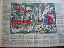 IMAGE D'EPINAL PELLERIN TIRAGE ANCIEN CANTIQUE SAINTE GENEVIEVE de BRABANT