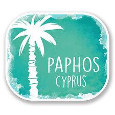 2 x 10cm Paphos Cyprus Vinyl Sticker Decal Luggage Travel Laptop Tag Car #6504