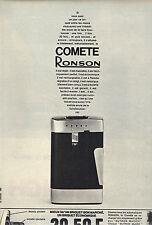 PUBLICITE 1966  RONSON  briquet COMETE