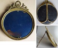Cadre porte photo en bronze 19e siècle Empire miroir frame miniature