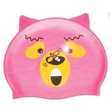 CRITTER Swim Class Silicone Cap PINK BEAR kids GIRLS Swimming training 39700PB