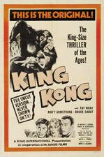 King Kong Fay Wray 1933 Vintage movie poster print 16