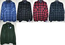 Croft & Barrow long sleeve Button Zip Fleece shirt Colors warm Very Soft Colors
