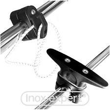 Tauwerk-Halterung für Rohr Reling 20-26 mm Kunststoff Klampe Haken Belegklampe