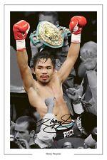 Manny Pacquiao Boxeo Firmado Autógrafo Foto Impresión