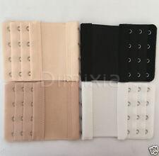 Elastic Bra Extender Strap 4 Hooks Black Nude White Clips Maternity Extension