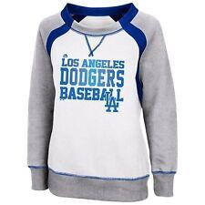 MLB Majestic Los Angeles Dodgers Women's White Lovely Leaguer Sweatshirt
