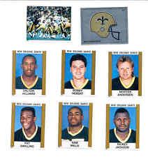 1988 Panini New Orleans Saints Set RICKEY JACKSON PAT SWILLING SAM MILLS HEBERT
