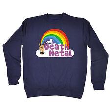 Death Metal Unicorn Rainbow SWEATSHIRT Punk Rock Funny Present Gift fathers day