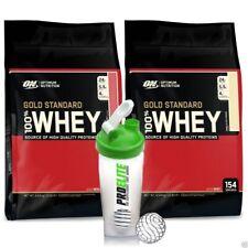 Optimum Nutrition 100% Oro Proteína de suero 4.5Kg X 2 + COCTELERA GRATIS