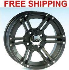 "ITP SS212 Wheels Rims 12"" 4 Wheel Polaris RZR800 RZR900/900 XP BLACK 08-14"