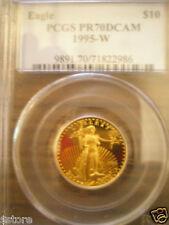1995-W $10 PCGS PR70DCAM 1/4 OZ, GOLD American Eagle