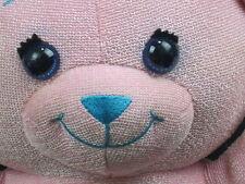 "BIG PINK BLUE DRAW ON ME DOODLE TEDDY BEAR SOFT PLUSH STUFFED ANIMAL TOY 15"""