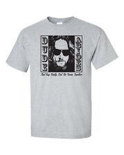 THE DUDE ABIDES Jeff Bridges IMAGE Big Lebowski Movie Funny Men's Tee Shirt 1070