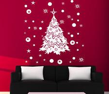 CHRISTMAS WINDOW DECORATION / XMAS TREE STICKERS / CRISTMAS WALL STICKER / S28
