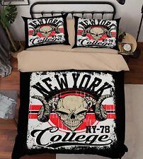 3D Street Antelope 95 Bed Pillowcases Quilt Duvet Cover Set Single Queen King CA